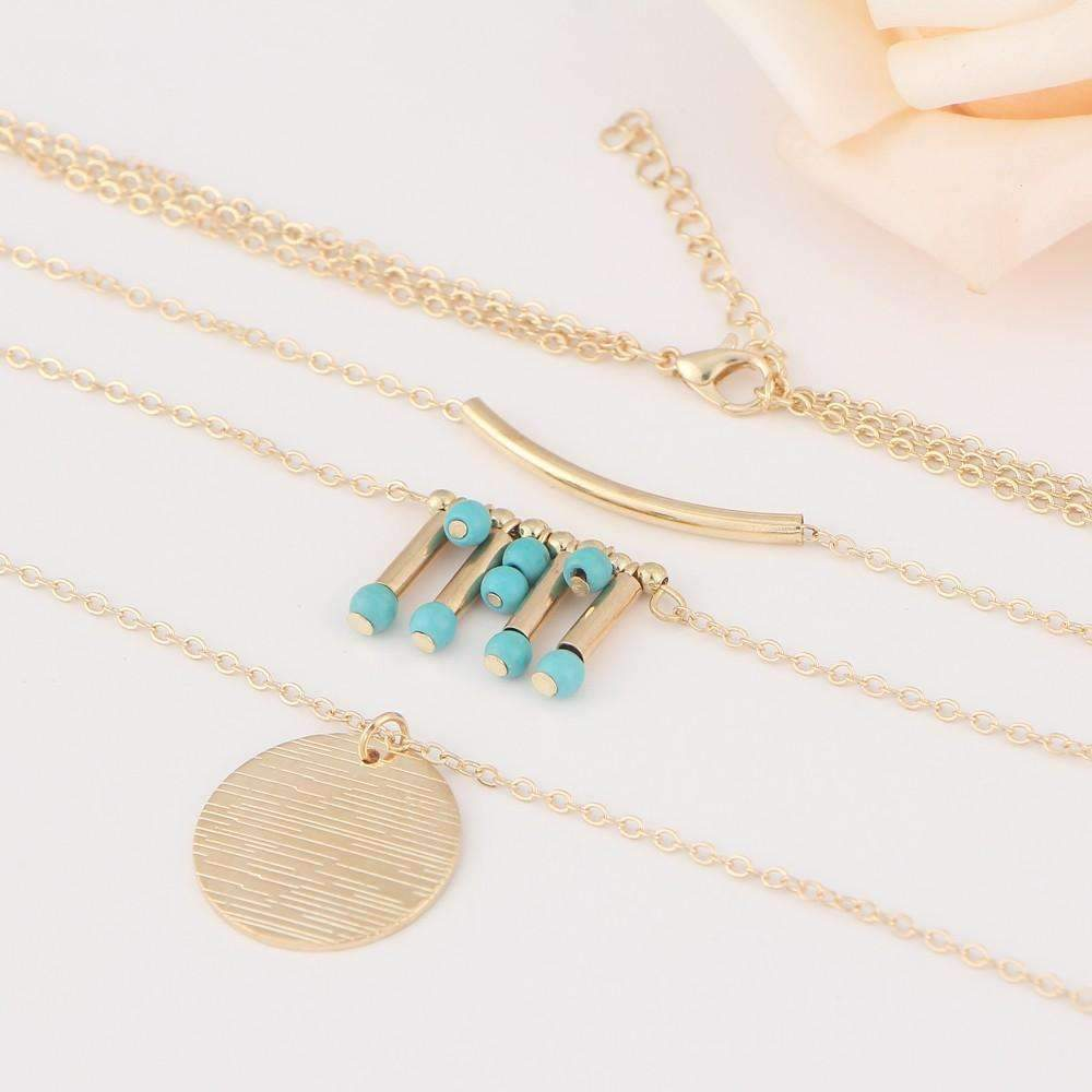 Turquoise Multilayer Necklace - The Trendy Accessories Store