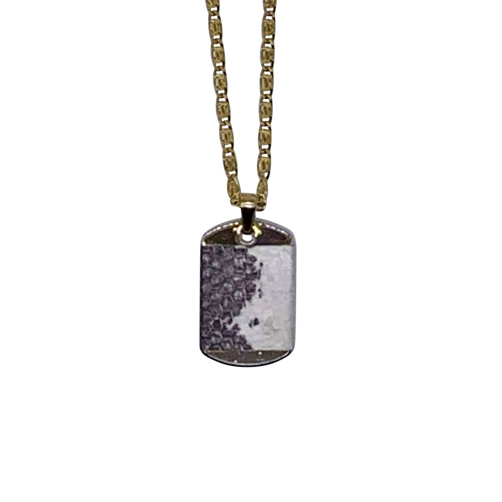 Sylver Dog Tag Necklace - The Trendy Accessories Store