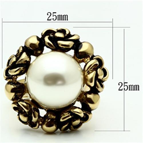GL308 IP Gold(Ion Plating) Brass Ring with - The Trendy Accessories Store