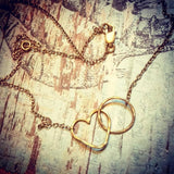 Namaste Necklace - Heart and Circle Infinity Necklace - The Trendy Accessories Store