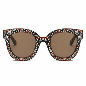 Tortoiseshell Star Rhinestone Sunglasses - The Trendy Accessories Store