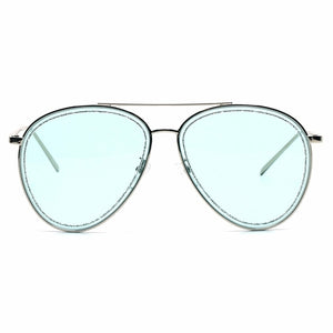 Blue Glitter Aviator Sunglasses - The Trendy Accessories Store