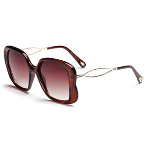 Brown Frame and Lens Square Glasses - The Trendy Accessories Store