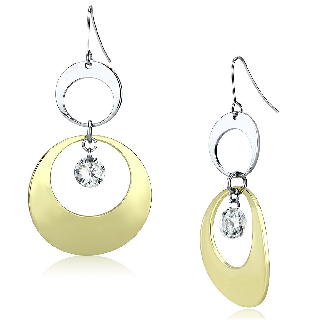 Gold & Rhodium Iron Earrings - The Trendy Accessories Store