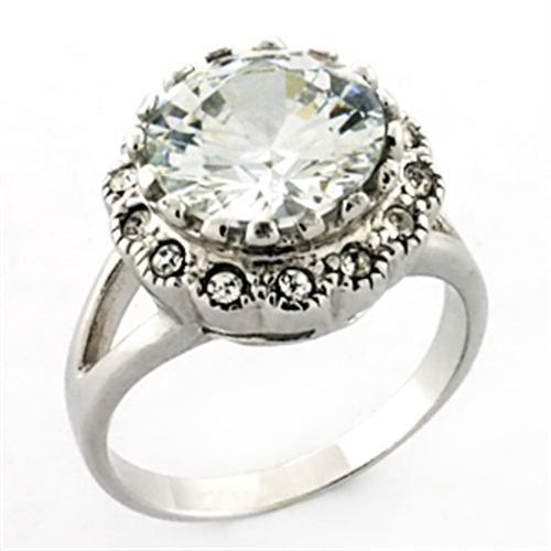 LOA638 Rhodium 925 Sterling Silver Ring with AAA - The Trendy Accessories Store