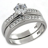 LOAS1008 Rhodium 925 Sterling Silver Ring - The Trendy Accessories Store