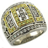 LOAS1043 Gold+Rhodium 925 Sterling Silver Ring - The Trendy Accessories Store