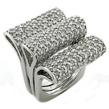 LOAS1047 Rhodium 925 Sterling Silver Ring - The Trendy Accessories Store