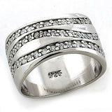 LOAS1178 Rhodium 925 Sterling Silver Ring with AAA - The Trendy Accessories Store