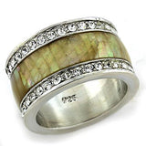 LOAS1180 Rhodium 925 Sterling Silver Ring - The Trendy Accessories Store