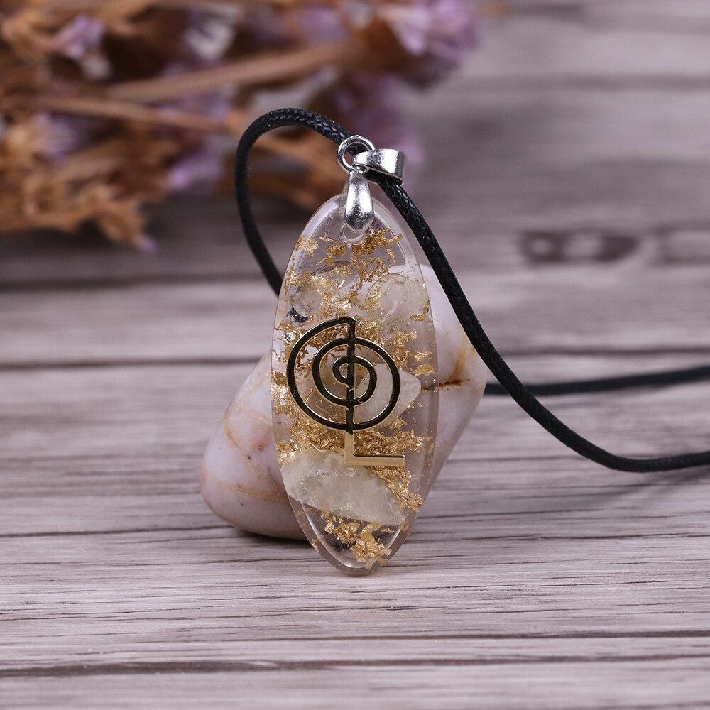 Orgone crystal Necklace Waterdrop Shaped Orgonite Pendant Necklace - The Trendy Accessories Store