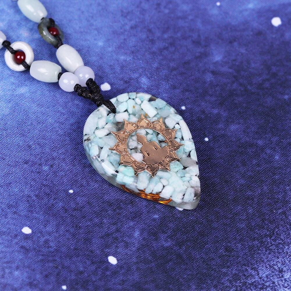 Orgonite Energy Pendant Amazonite Reiki necklace Necklace Glamour - The Trendy Accessories Store