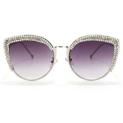 Vintage Luxury Sunglasses With Red sparkly crystals - The Trendy Accessories Store