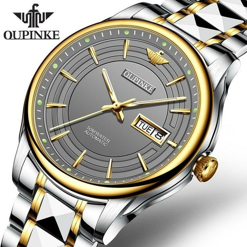 Men Skeleton Automatic Mechanical Watches Top Brand Sapphire Glass - The Trendy Accessories Store