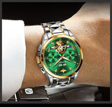 Luxury Automatic Sapphire Tungsten steel Green Watch - The Trendy Accessories Store