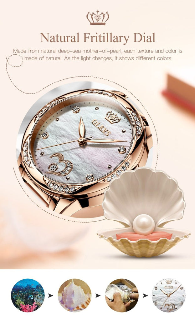 Luxury Waterproof Automatic Mechanical Gold Plated Watch - The Trendy Accessories Store