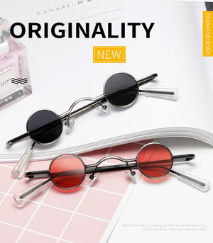 Vintage Small Round Sunglasses Women Brand Design Black Frame Fashion - The Trendy Accessories Store