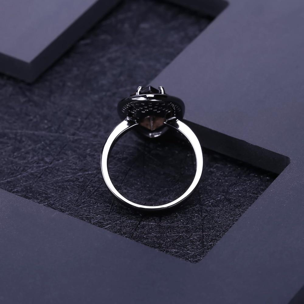 Natural Vintage Smoky Quartz Gemstone Ring - The Trendy Accessories Store