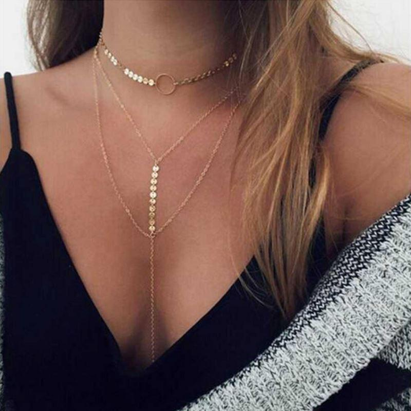 Three Layer Lariat Choker Necklace - The Trendy Accessories Store