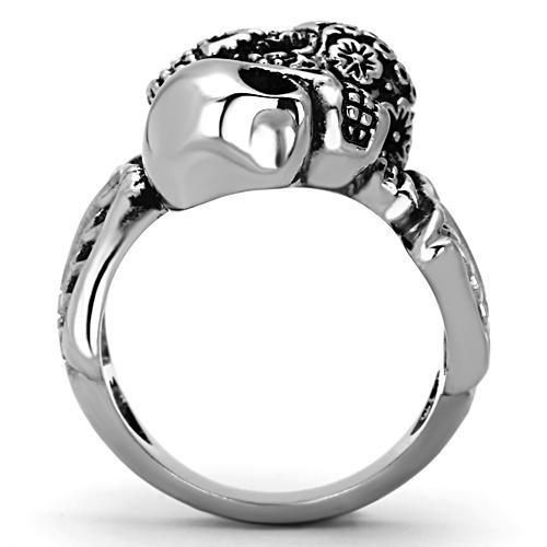 High polished (no plating) Stainless Steel Ring with No Stone - The Trendy Accessories Store