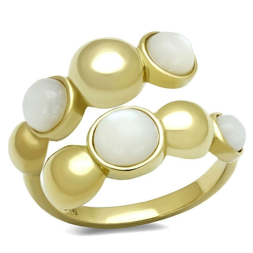 TK3090 IP Gold(Ion Plating) Stainless Steel Ring - The Trendy Accessories Store