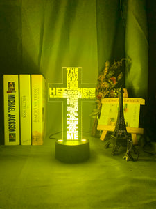 Cross Bible Night Light