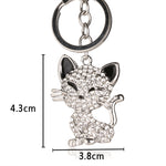 Load image into Gallery viewer, Crystal Rhinestone Cat Keychain