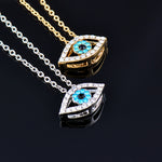 Load image into Gallery viewer, Rhinestone Evil Eye Necklace