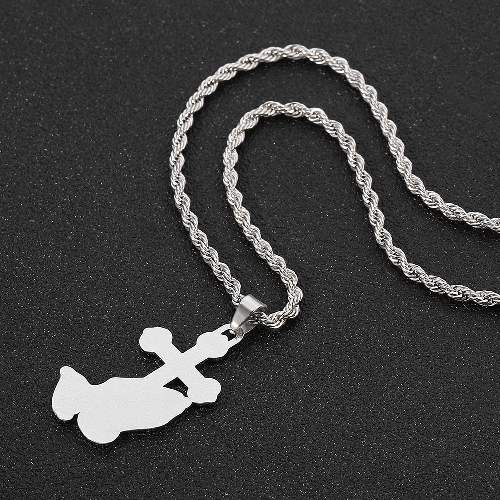 Praying Hands Cross Necklace