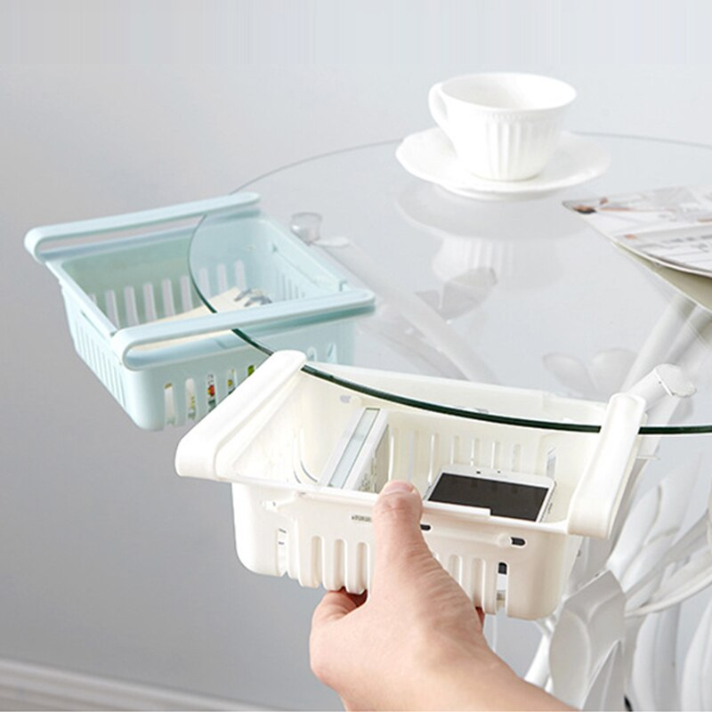 Kitchen Organizer Saving Space Adjustable Pull-out Drawer Kitchen Refrigerator Storage Rack Fridge Freezer Shelf Holder Healthy