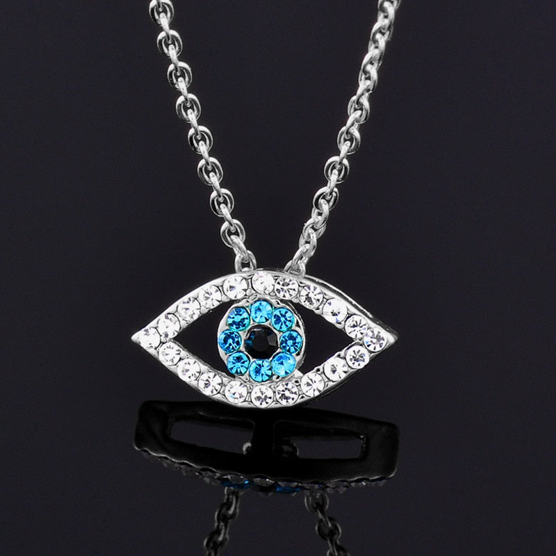 Rhinestone Evil Eye Necklace