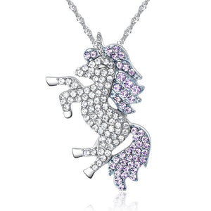 Rhinestone Unicorn Necklace