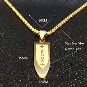 Jesus Cross Bullet Necklaces