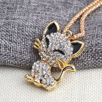Load image into Gallery viewer, Rhinestone Cat Necklace