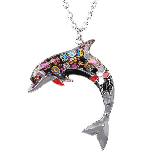 Colorful Dolphin Necklace