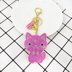 Load image into Gallery viewer, Rhinestone Cat Keychain