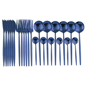 Luxury Colorful Flatware Set 24pcs