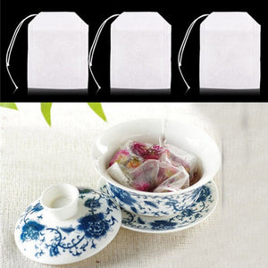 100 Pcs Tea Bags Bags For Tea Bag Infuser With String Heal Seal 5.5 x 7CM Sachet Filter Paper Teabags Empty Tea Bags