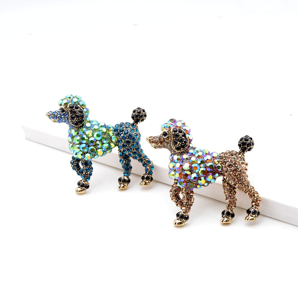 Rhinestone Dog Brooches