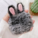 Load image into Gallery viewer, Soft Fur Rabbit Ear Case for AirPods