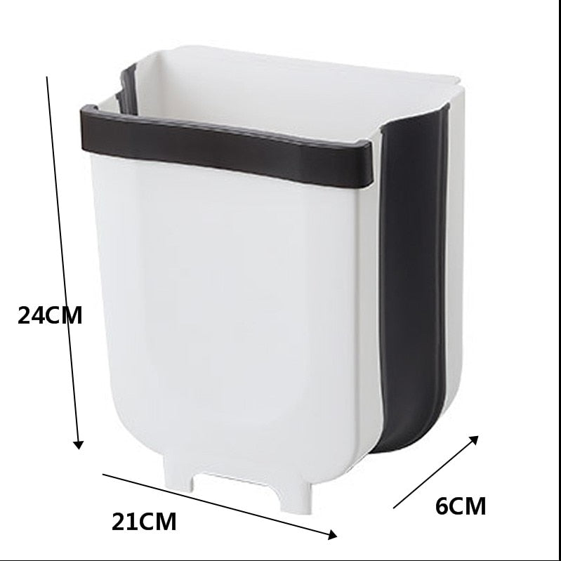Hanging Folding Kitchen Trash Bin