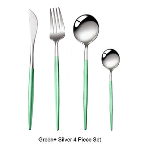 Colorful Stainless Steel Cutlery Set 4pcs