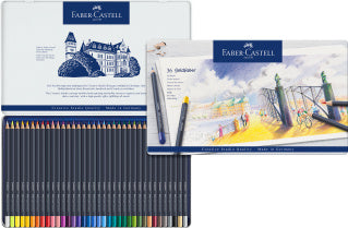 Estuche de metal con 36 lápices de color Goldfaber
