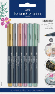 Metallics Marker, blister con 6 colores