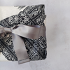 Ribbon Furoshiki - Black White Batik