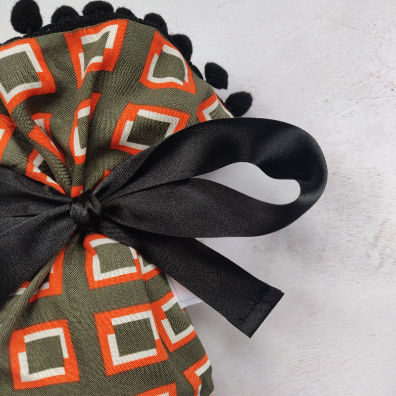Wine Gift Bag - Geometric Olive
