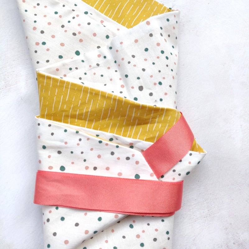 Fabric Gift Wrapping - Spots and Sunshine