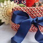 Fabric Gift Wrapping - Geometric Pink
