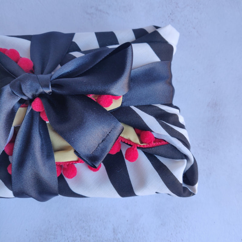 Fabric Gift Wrapping - Zebra