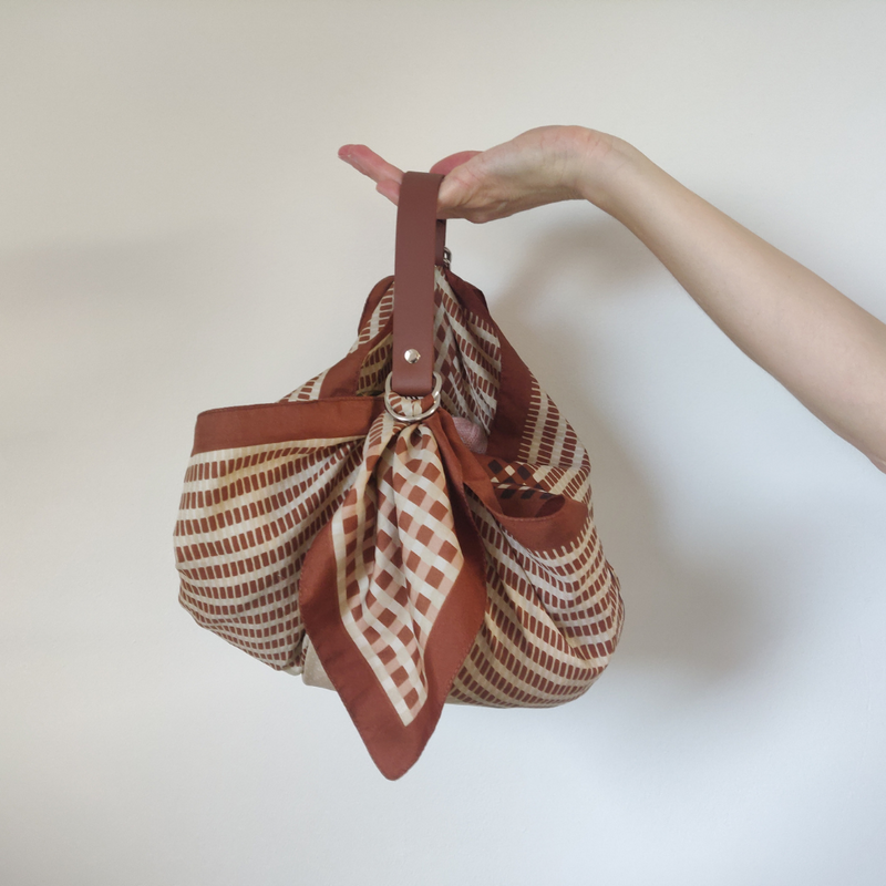 Vegan Furoshiki bag strap - Brown